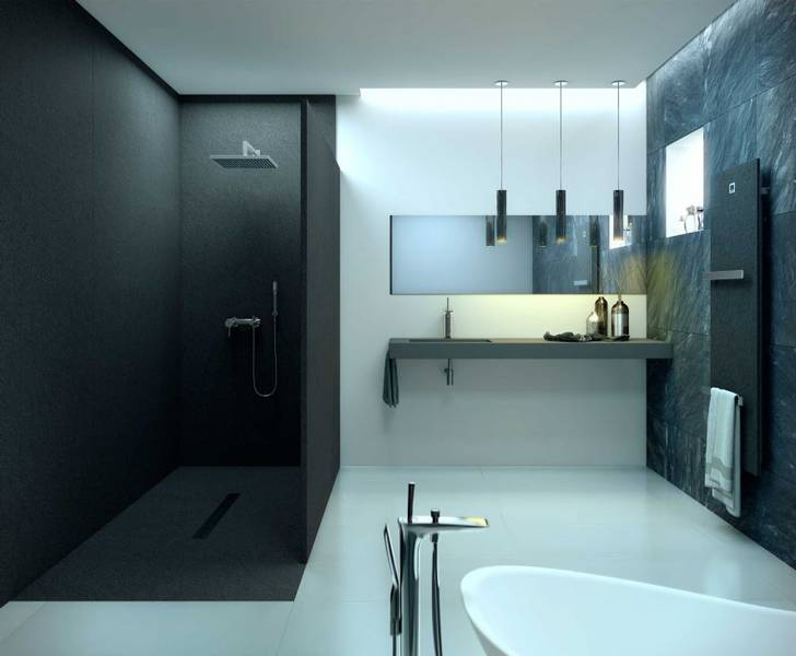 panneau mural salle de bain moderne vaucluse salle d 39 o. Black Bedroom Furniture Sets. Home Design Ideas