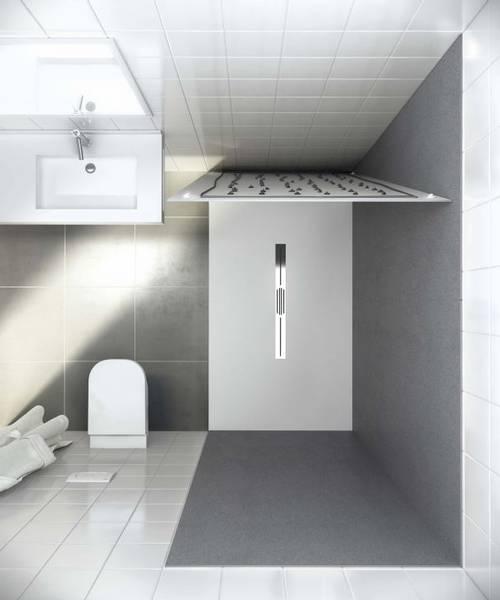 Panneau mural salle de bain moderne vaucluse salle d 39 o - Sechoir salle de bain mural ...