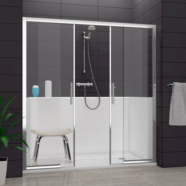 transformer une salle de bain en douche salle de bains. Black Bedroom Furniture Sets. Home Design Ideas